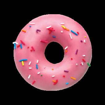 Strawberry Sprinkles Doughnut